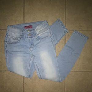 Wax Skinny Low Rise Women's Jeans Size 1